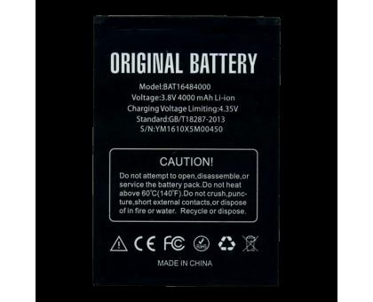АКБ (Батарея Аккумулятор) Doogee X5 Max, X5 Max Pro BAT16484000 4000 mAh